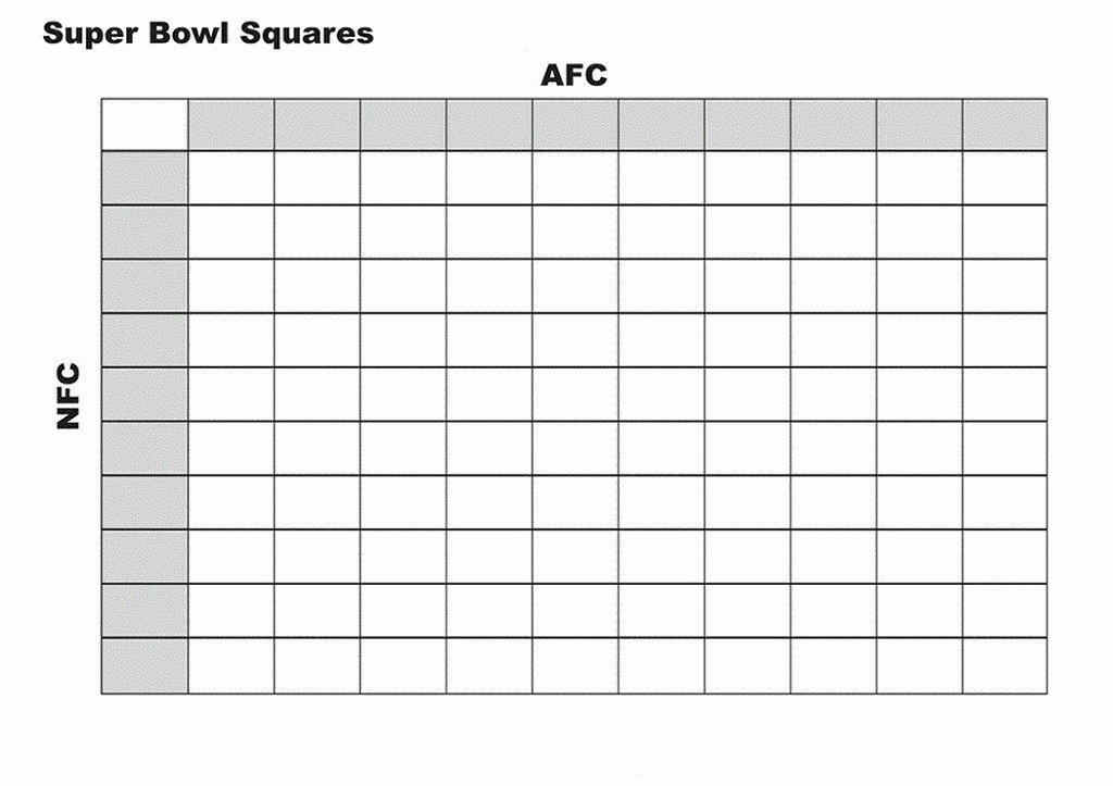 100 Square Football Pool Excel Best Of Football Squares Template