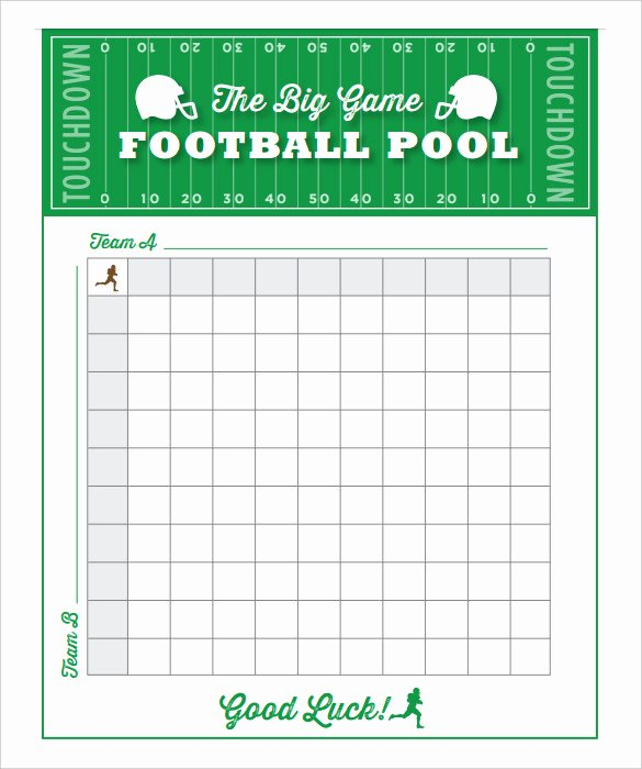 100 Square Football Pool Excel Inspirational 19 Football Pool Templates Word Excel Pdf