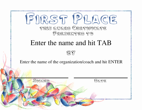 1st 2nd 3rd Place Certificate Template Beautiful 29 Of First Place Award Template