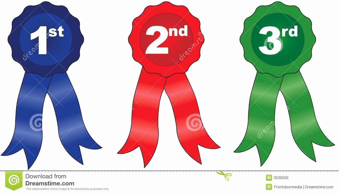1st 2nd 3rd Place Certificate Template New Printable Award Ribbons