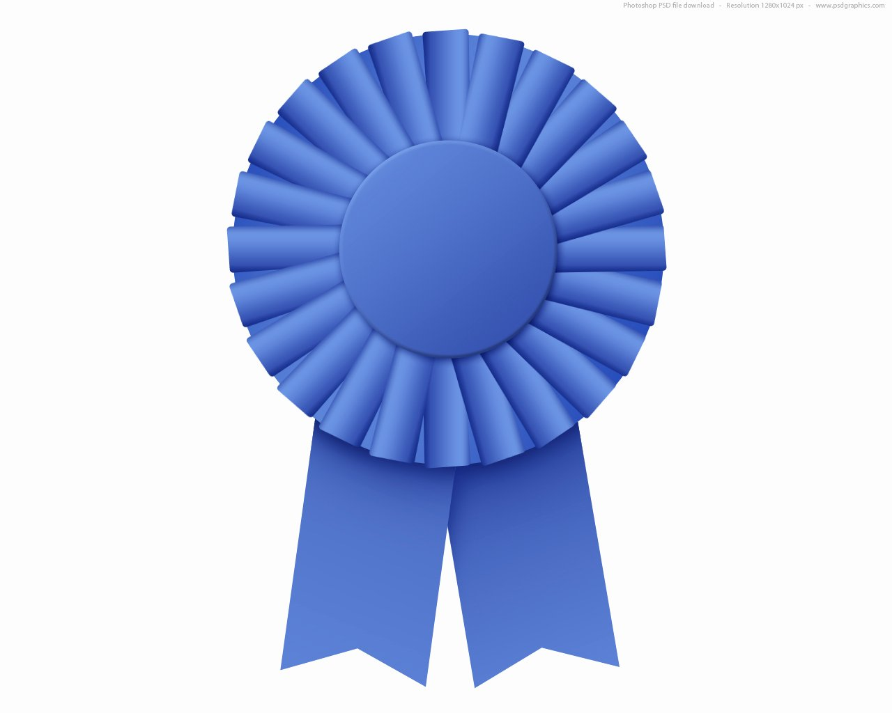 1st Place Ribbon Template Beautiful Blue Ribbon Rosette Psd
