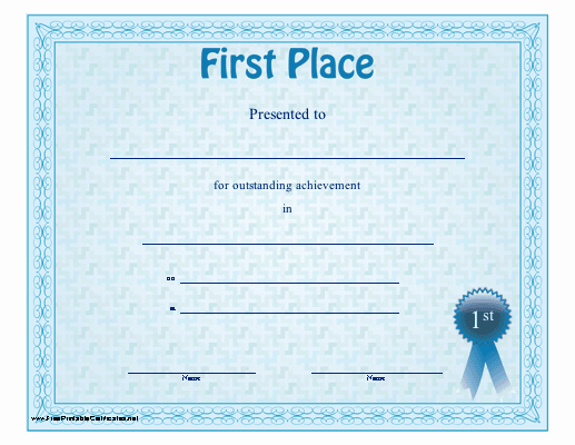 1st Place Ribbon Template Fresh 29 Of First Place Award Template