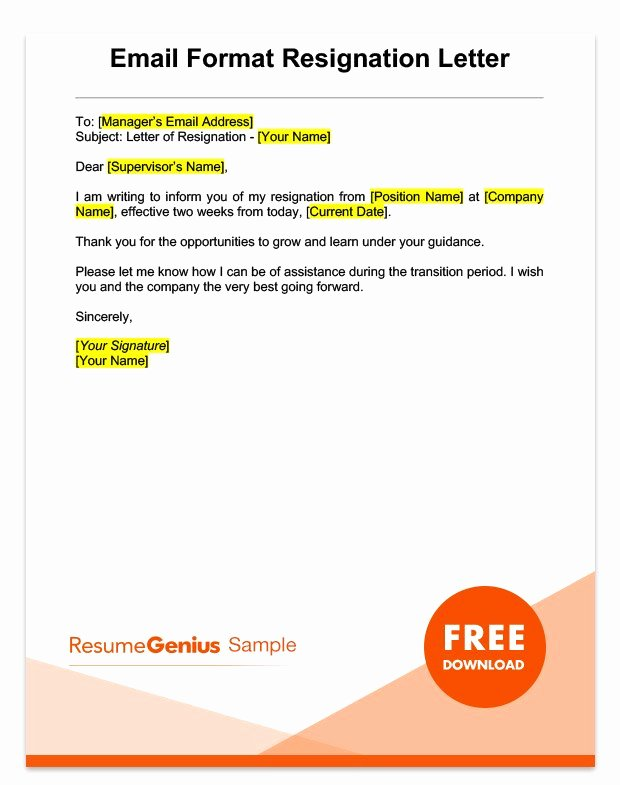 2 Week Notice Letter for Retail Luxury Two Weeks Notice Letter Sample Free Download