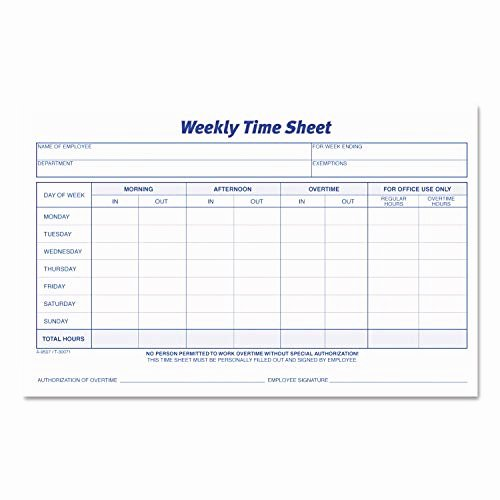 2 Week Timesheet Inspirational Time Sheets for Employees Amazon