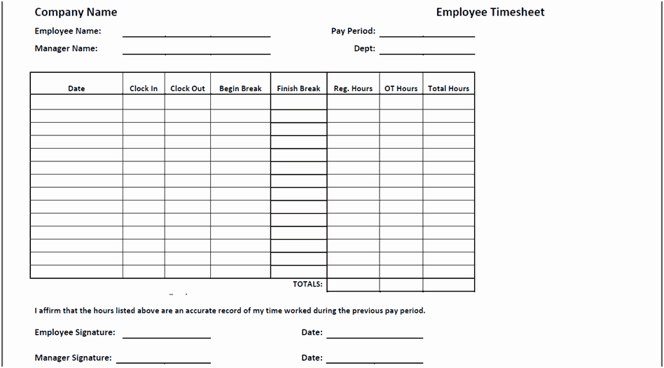 2 Week Timesheet Inspirational Timesheet Templates Find Word Templates