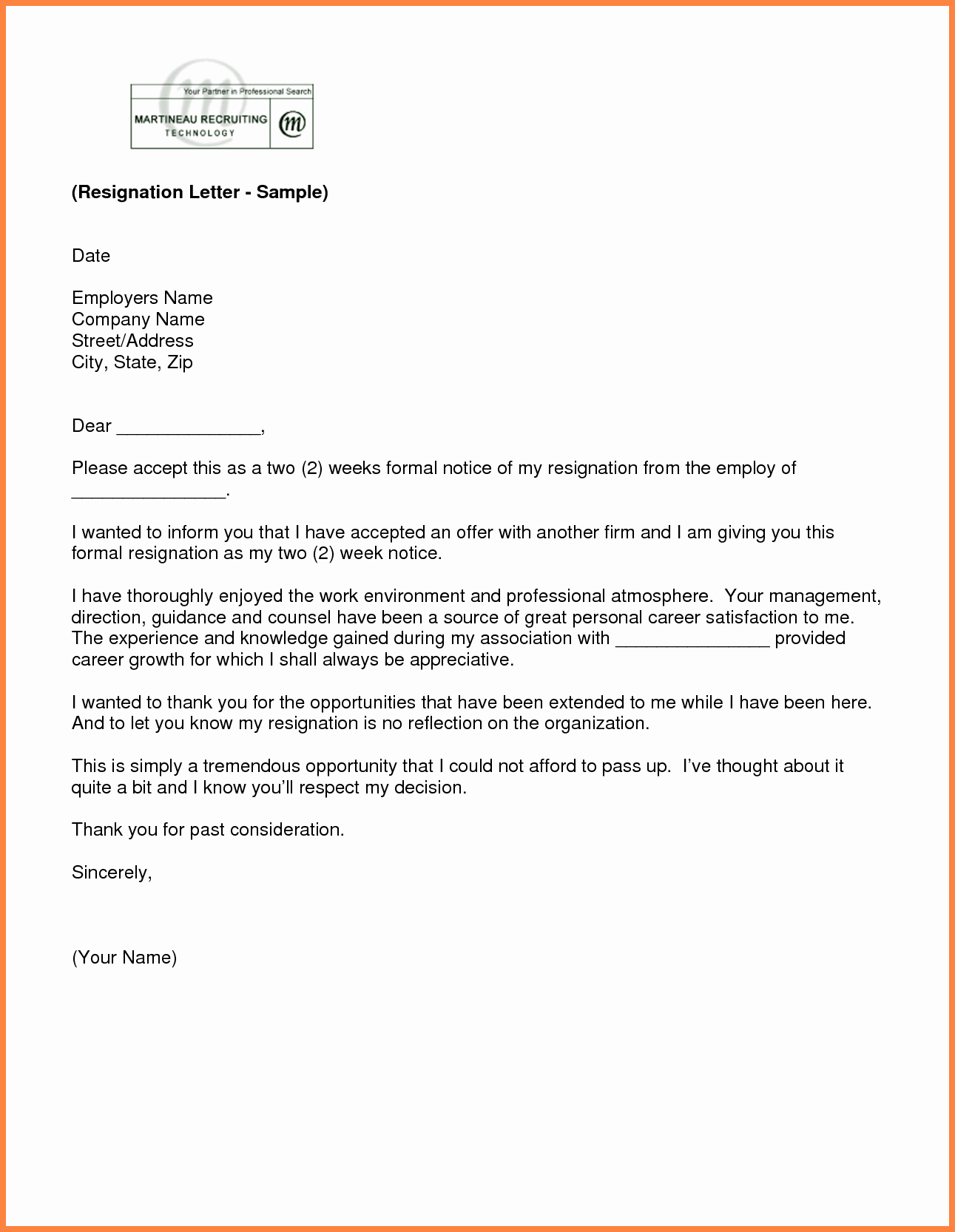 2 Weeks Notice Letter for Retail Beautiful 9 2 Weeks Notice Letter Sample Retail