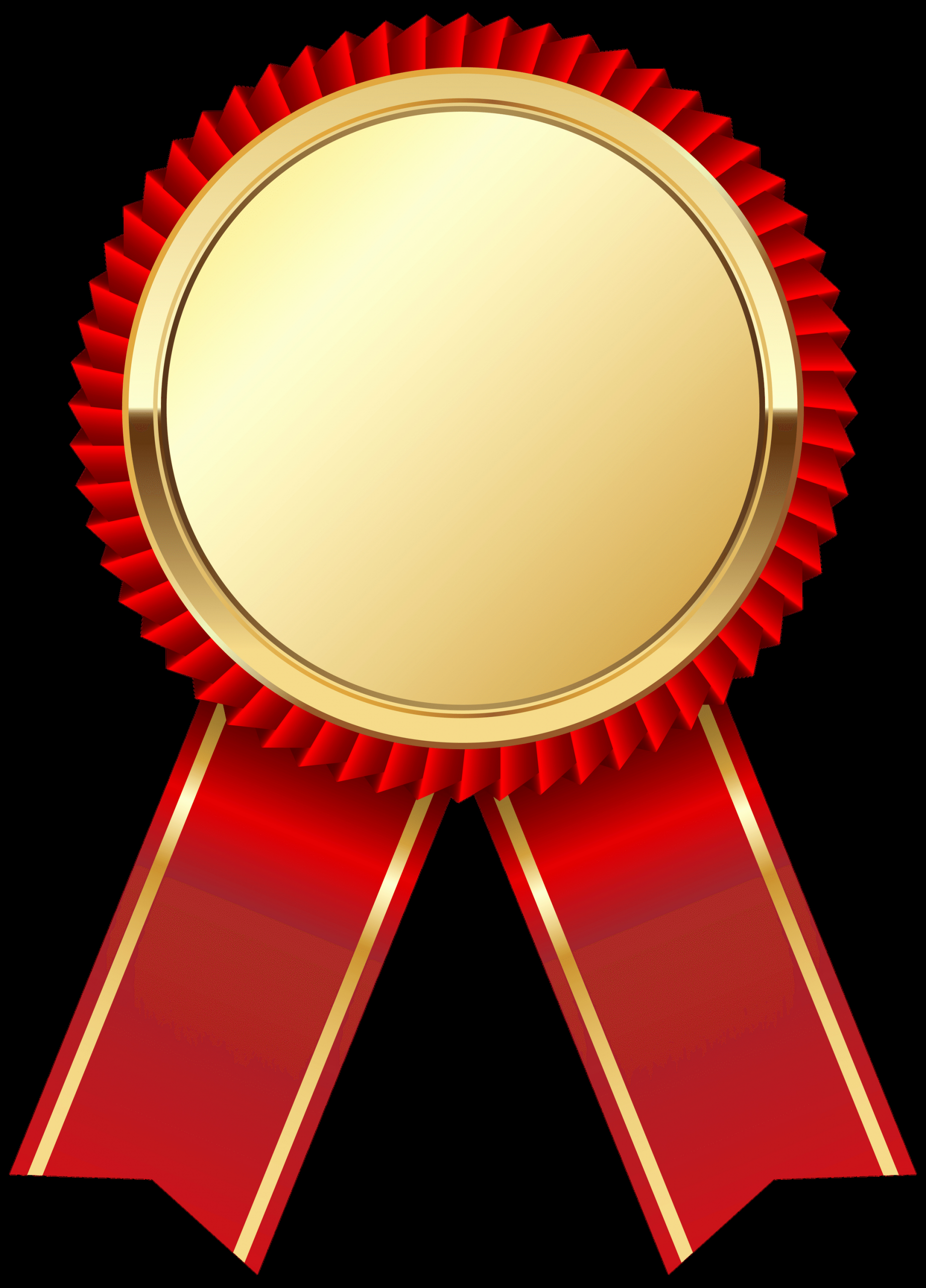 2nd Place Ribbon Png Elegant Gold Medal Ribbon Transparent Png Stickpng