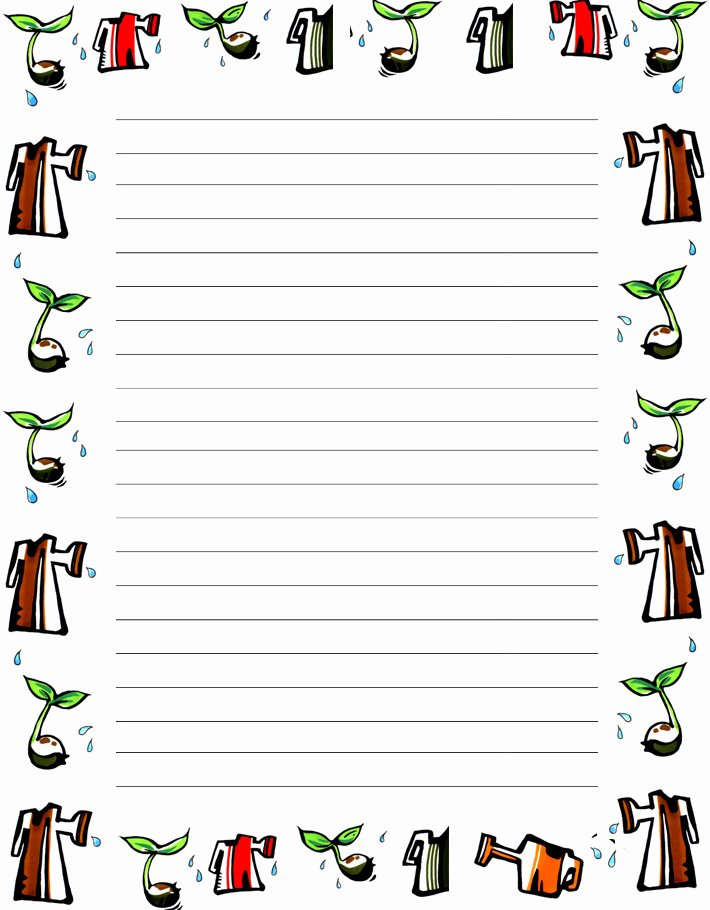 3 by 5 Index Card Template Google Docs New Mother's Writing Paper Mother S Day Border Paper Mother