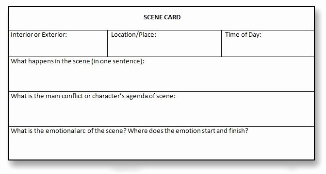 3 by 5 Notecard Template Google Docs Luxury Scene Template Writing Google Search