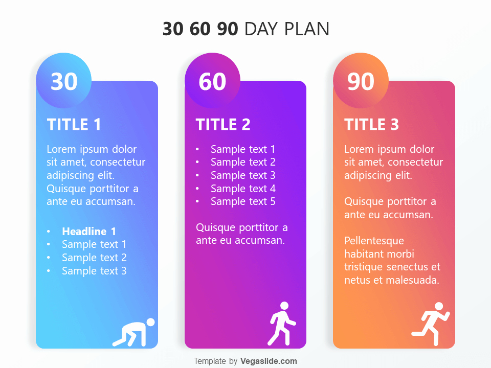 30 60 90 Day Sales Plan Template Free Awesome Refreshing 30 60 90 Day Plan Powerpoint Template Vegaslide