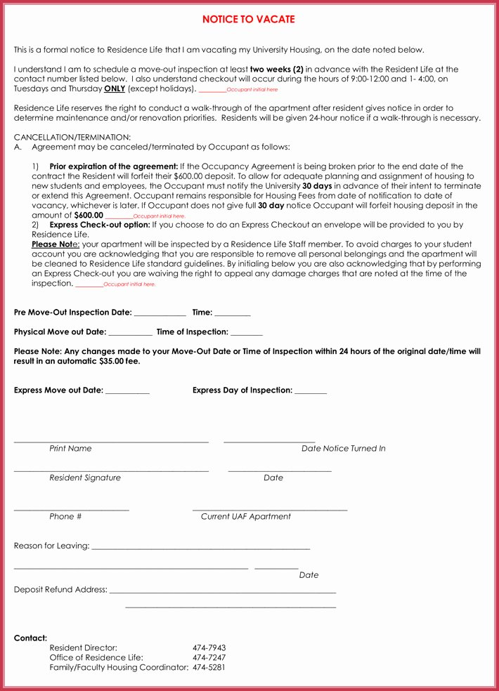 30 Day Move Out Letter Inspirational 30 Day Notice Letter Templates 12 Samples In Word & Pdf