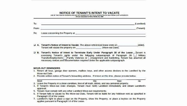 30 Day Move Out Notice to Tenant Best Of 30 Day Notice to Move Out 6 Free Documents In Word Pdf