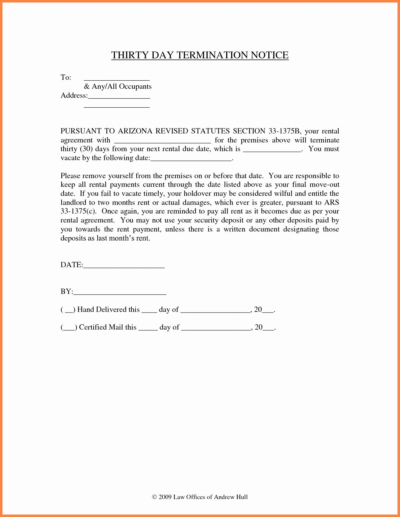 30 Day Notice to Landlord California Sample Inspirational 30 Day Notice to Vacate Letter