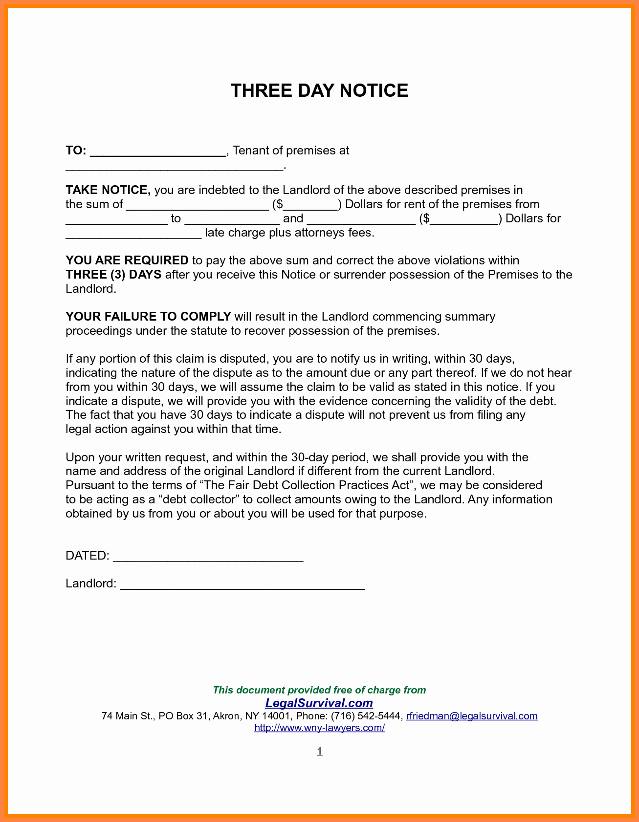 30 Day Notice to Landlord California Template Elegant 10 Example Of 30 Day Notice to Tenant