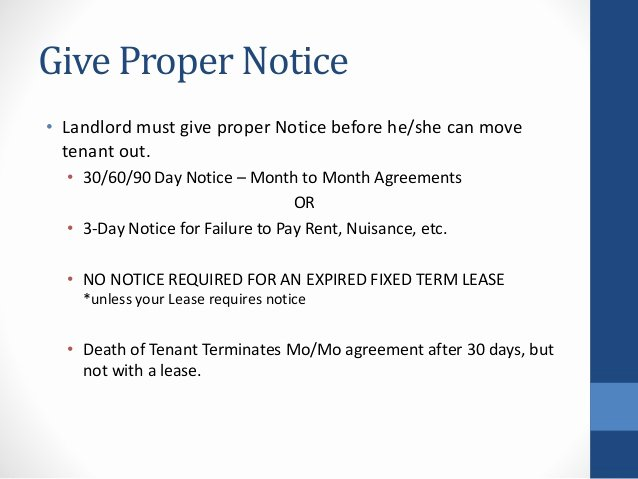30 Days Move Out Notice to Landlord Awesome Move In Move Out Process