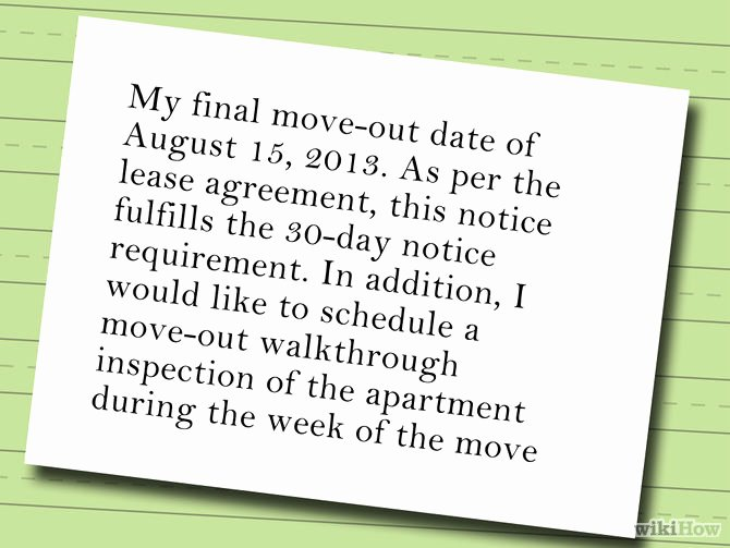 30 Days Move Out Notice to Landlord Beautiful 30 Day Notice to Landlord