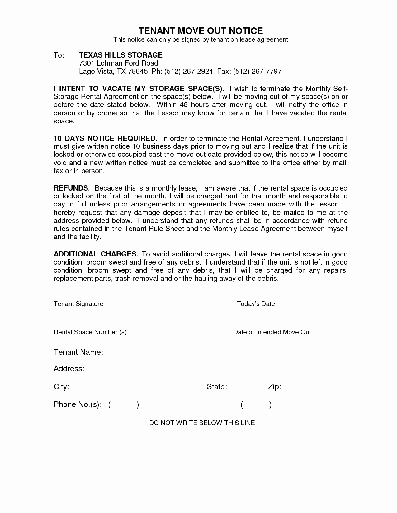 30 Days Move Out Notice to Landlord Elegant Best S Of Move Out Notice Letter Sample Sample