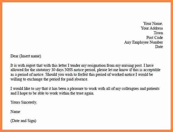 30 Days Notice Sample Letter Luxury 3 Resignation Letter 30 Days Notice