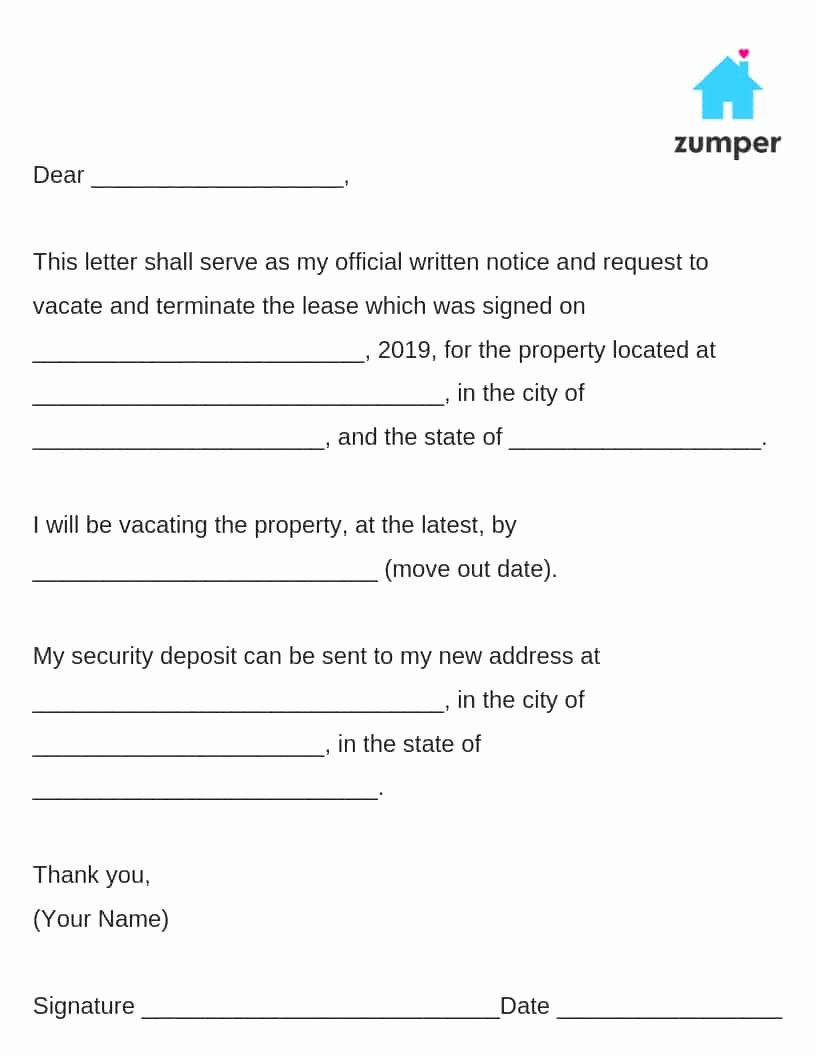 30 Notice to Move Fresh How to Give Written Notice to Your Landlord Notice to