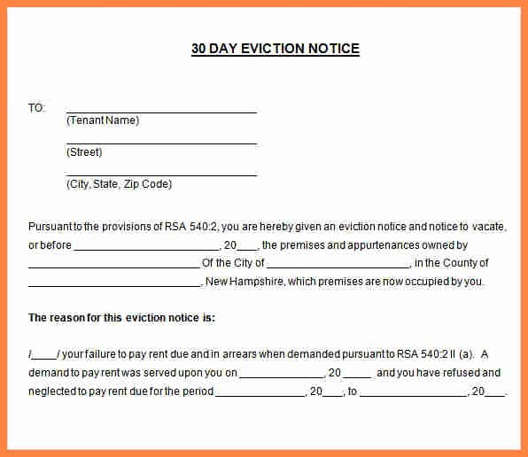 30 Notice to Move Out Fresh 6 30 Day Move Out Notice Template