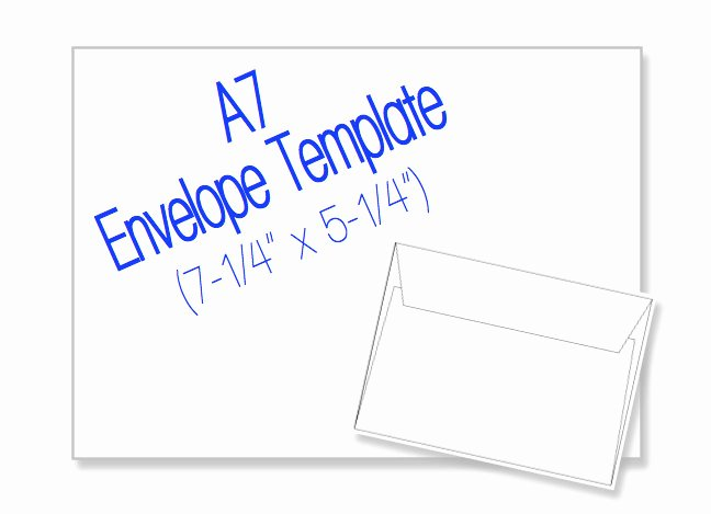 5 X 7 Postcard Template Beautiful A7 Envelope 7 1 4 X 5 1 4 Blank by Heritageexpressions On Etsy