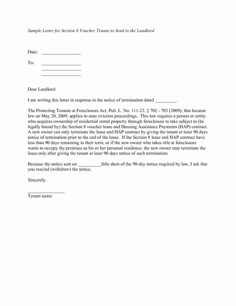 landlord notice letter to tenant template