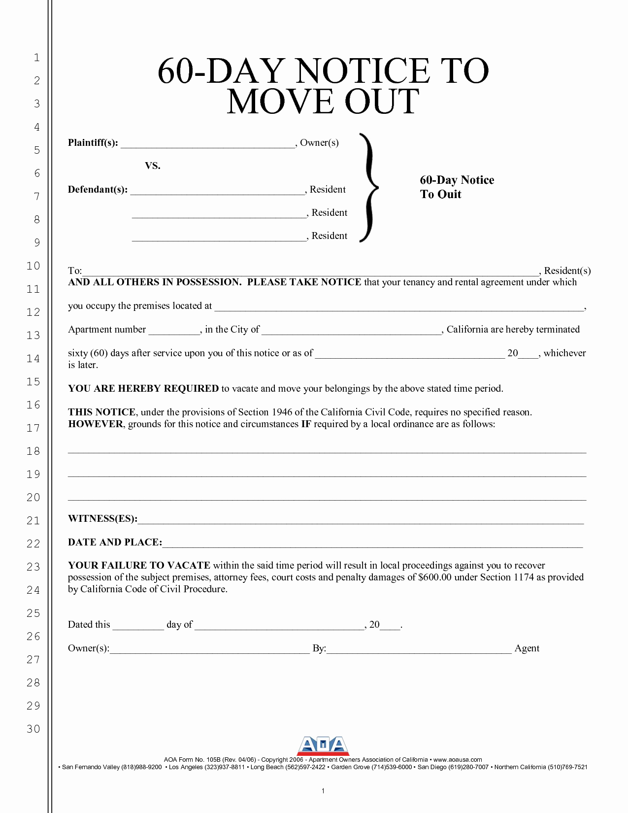 60 Days Notice Letter Fresh Best S Of Intent to Move Out Template Sample