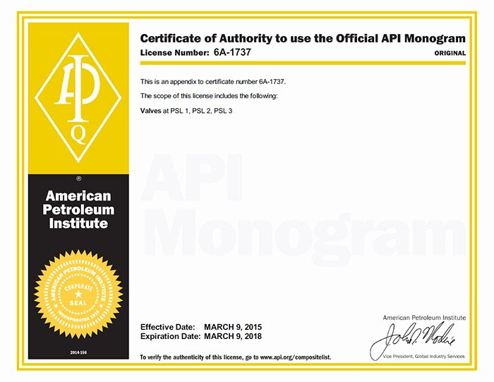6d Certificate Ma Template Unique Certificate Of Authority to Use the Ficial Api Monogram
