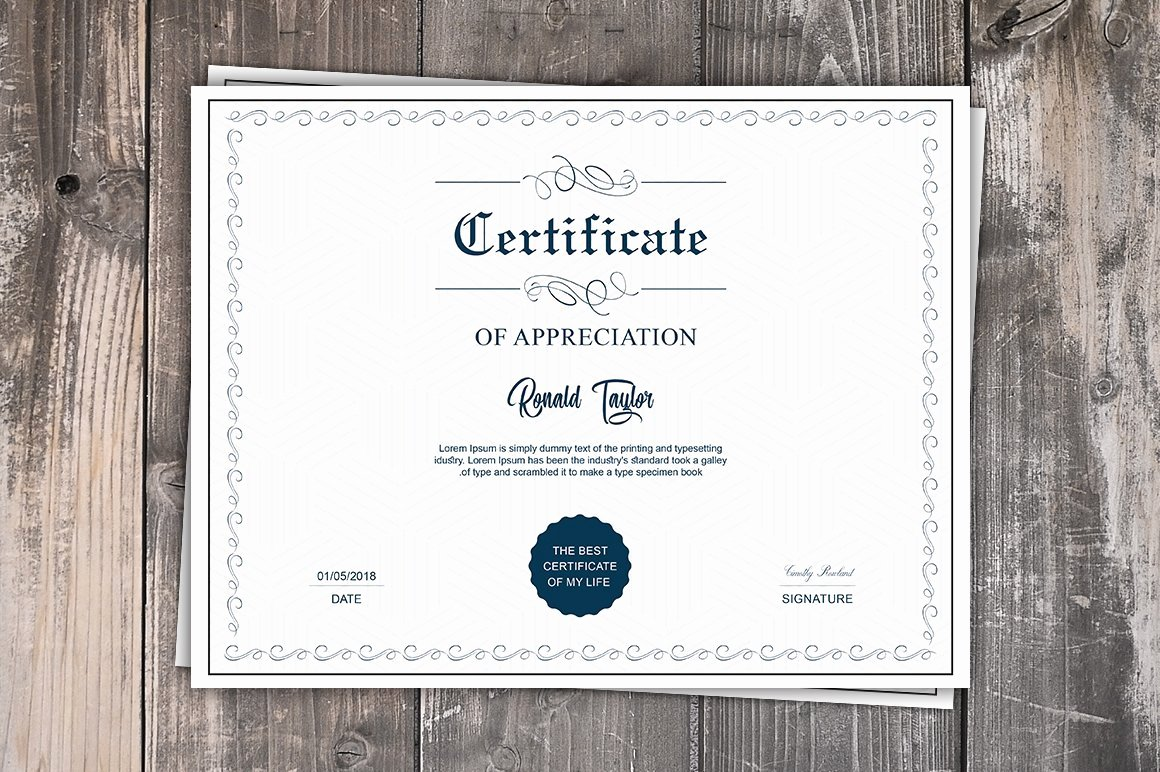 6d Certificate Ma Template Unique Multipurpose Certificate Template Stationery Templates