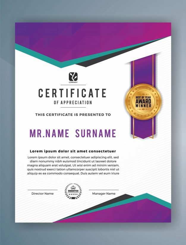 6d Certificate Massachusetts Template Elegant Vertical Modern Certificate Of Achievement Template Vector