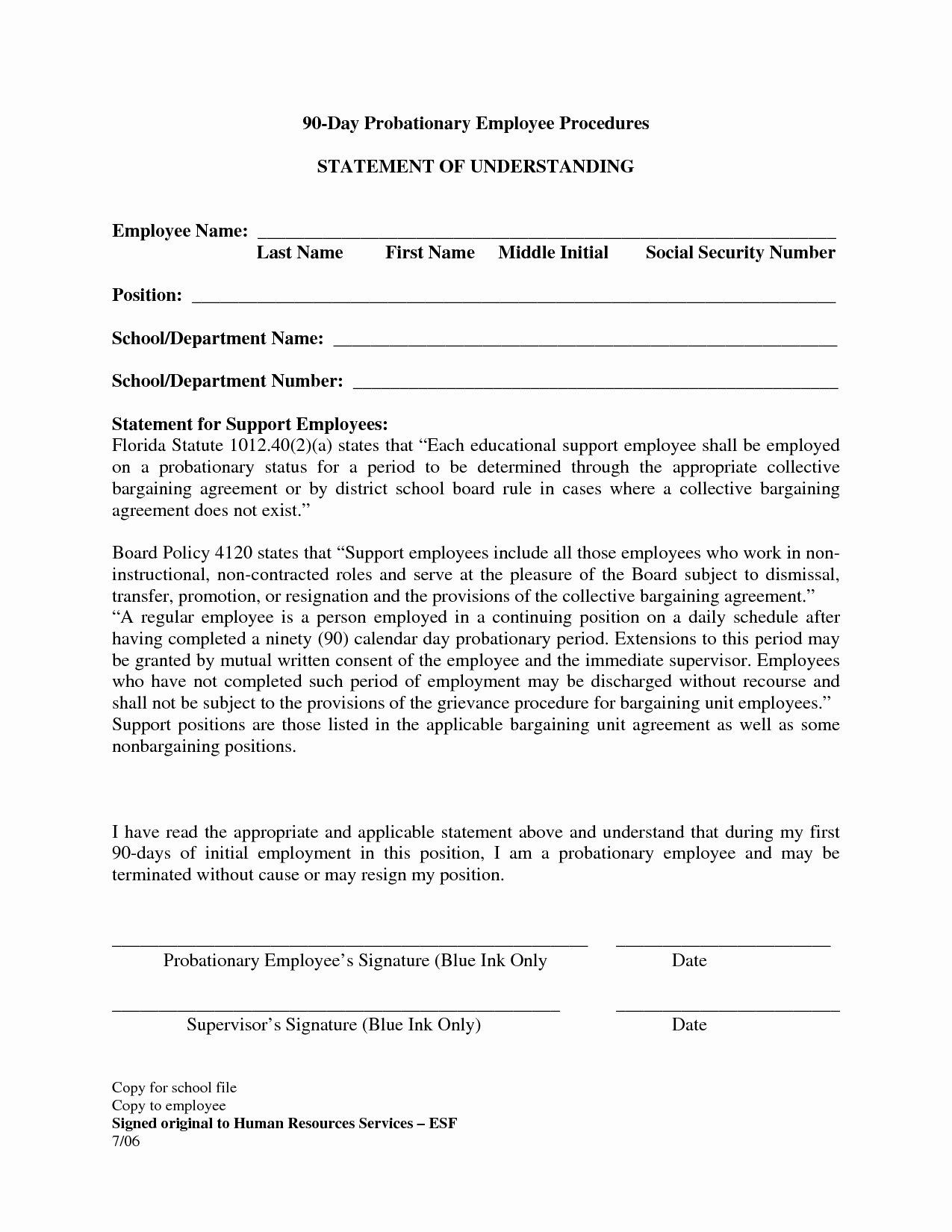 90 Day Probation Period Template Best Of Trial Period Employment Agreement Example New Search