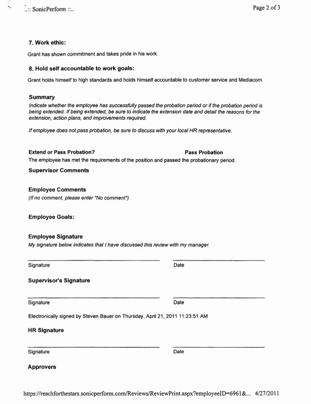 90 Day Probation Period Template Lovely 30 90 Day Probationary Period Template