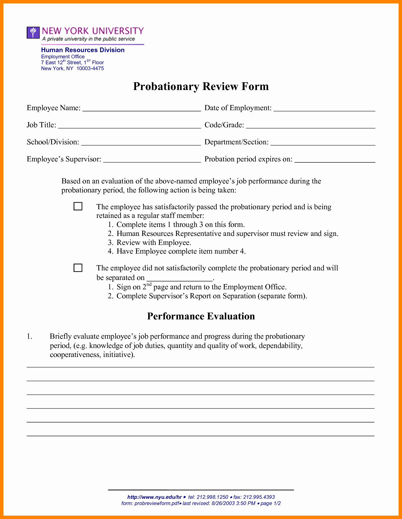 90 Day Probation Period Template New 13 Of 90 Day Probation Period Warning Template