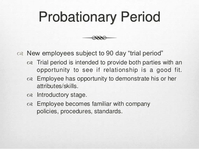 90 Day Probationary Period forms Unique All Glorious