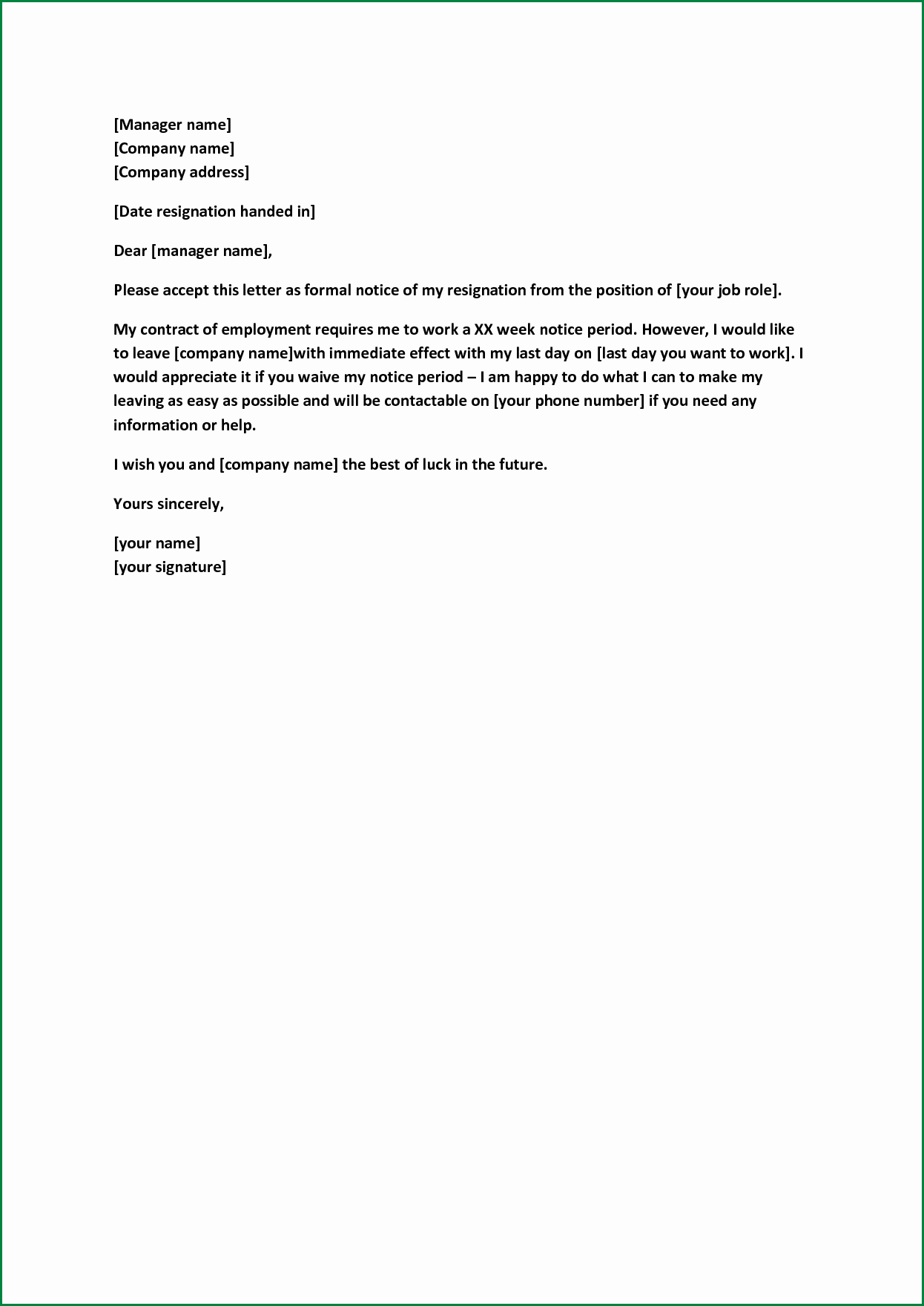 90 Day Probationary Period Offer Letter Inspirational formal Resignation Letter Sample with Notice Period