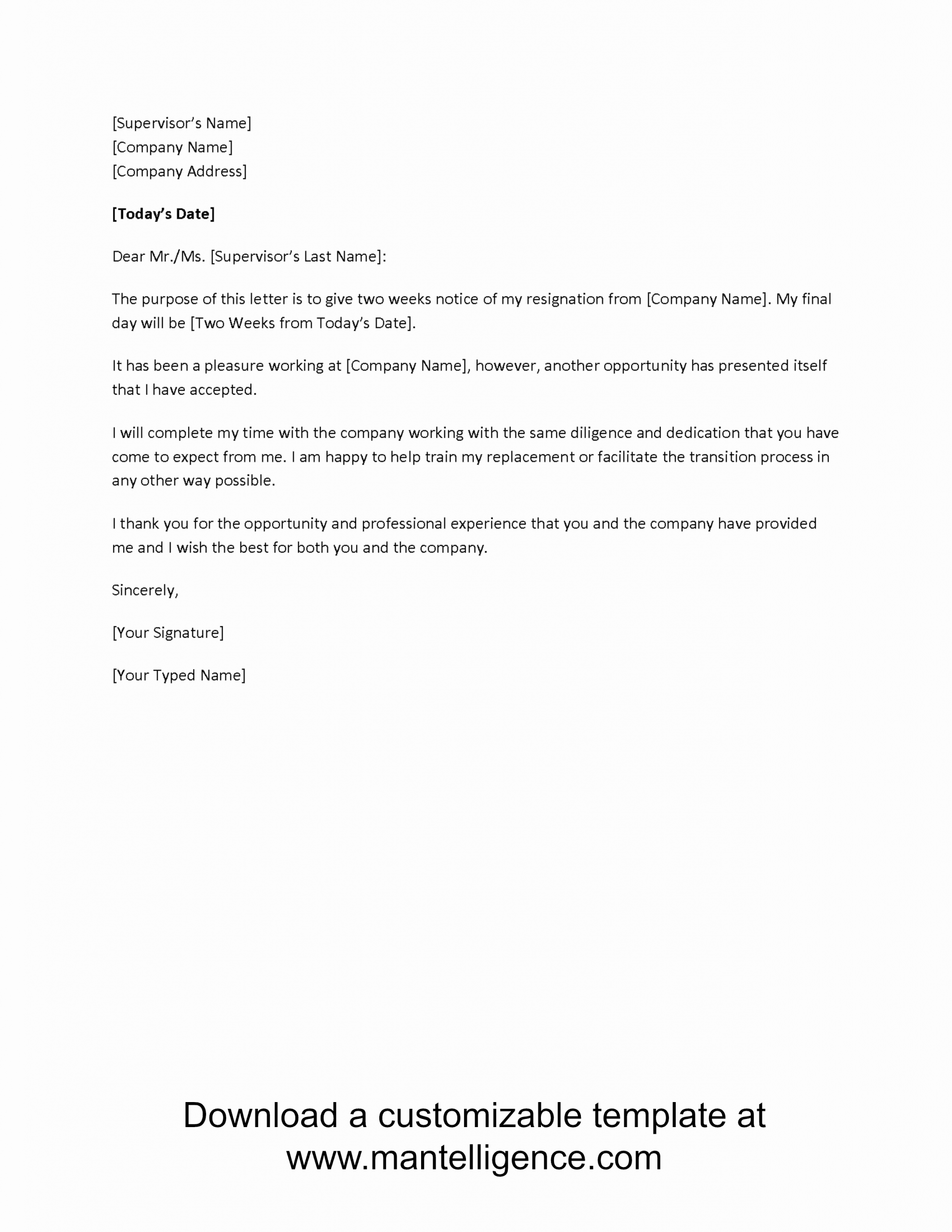 90 Day Probationary Period Offer Letter Lovely 3 Highly Professional Two Weeks Notice Letter Templates