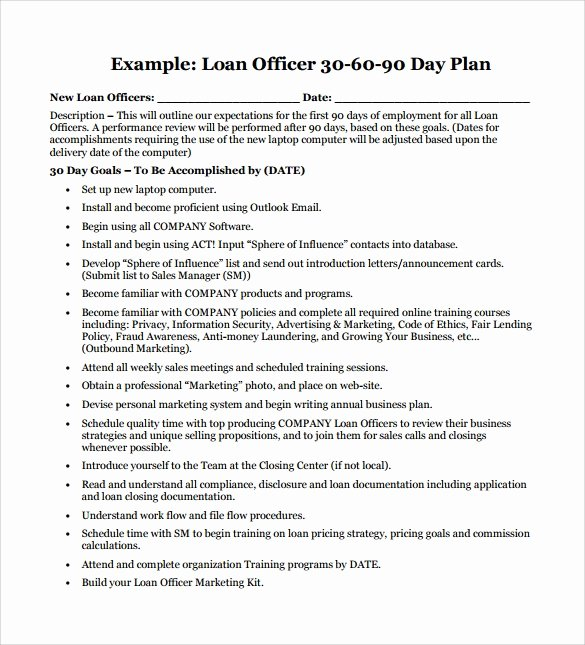 90 Day Sales Plan Example Inspirational 28 30 60 90 Day Plan Samples In Google Docs