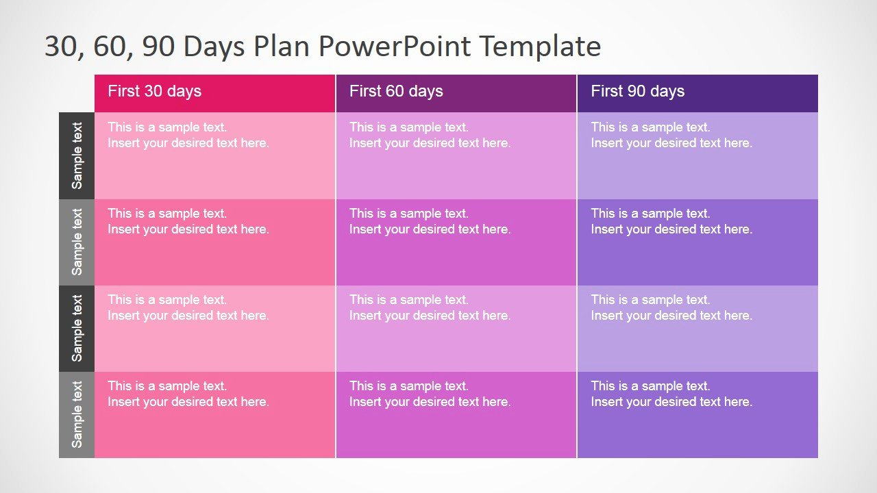 90 Day Sales Plan Example Lovely 30 60 90 Days Plan Powerpoint Template Slidemodel