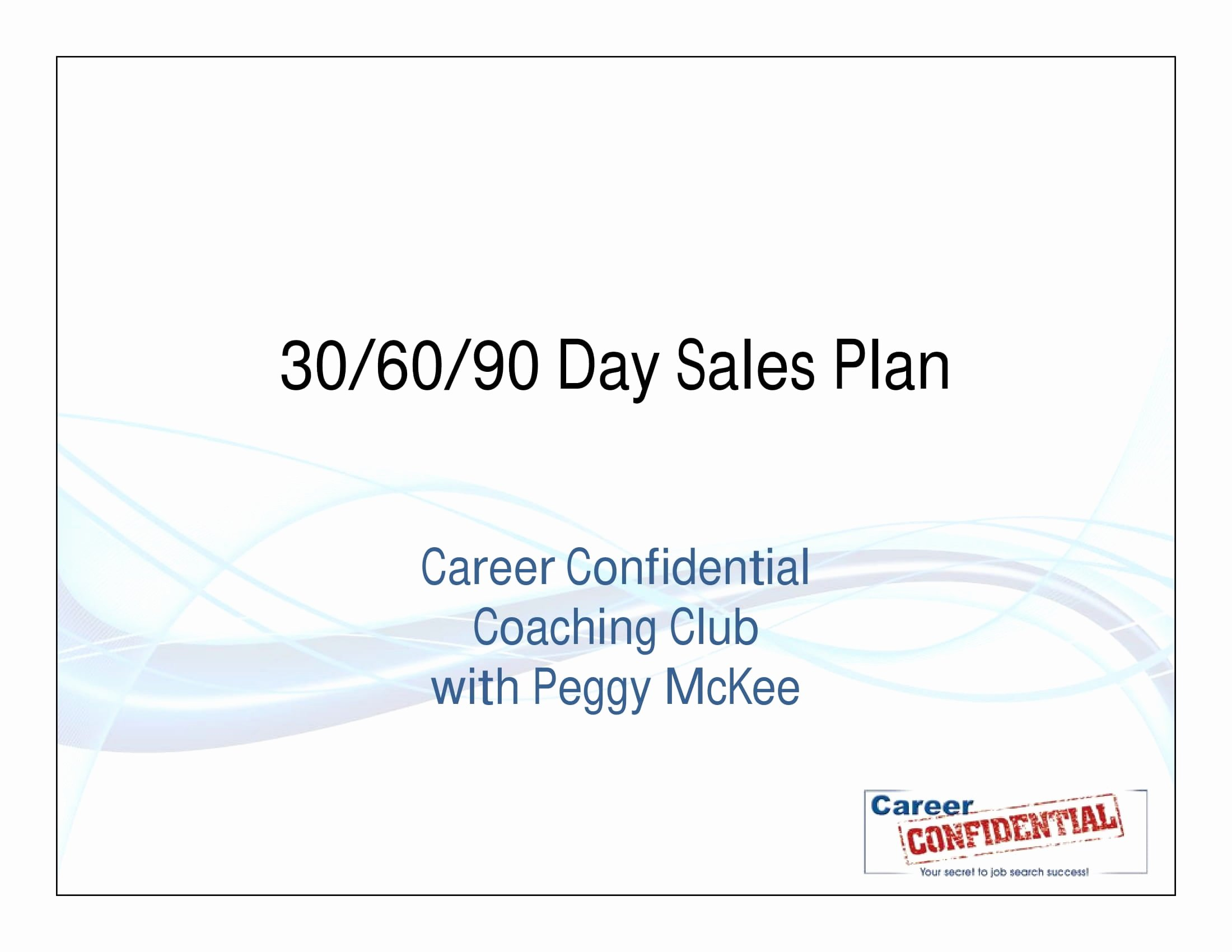 90 Day Sales Plan Example New 12 30 60 90 Day Sales Plan Examples Pdf Word