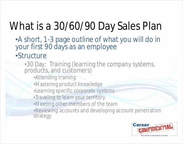 90 Day Sales Plan Example New 22 30 60 90 Day Action Plan Templates Free Pdf Word