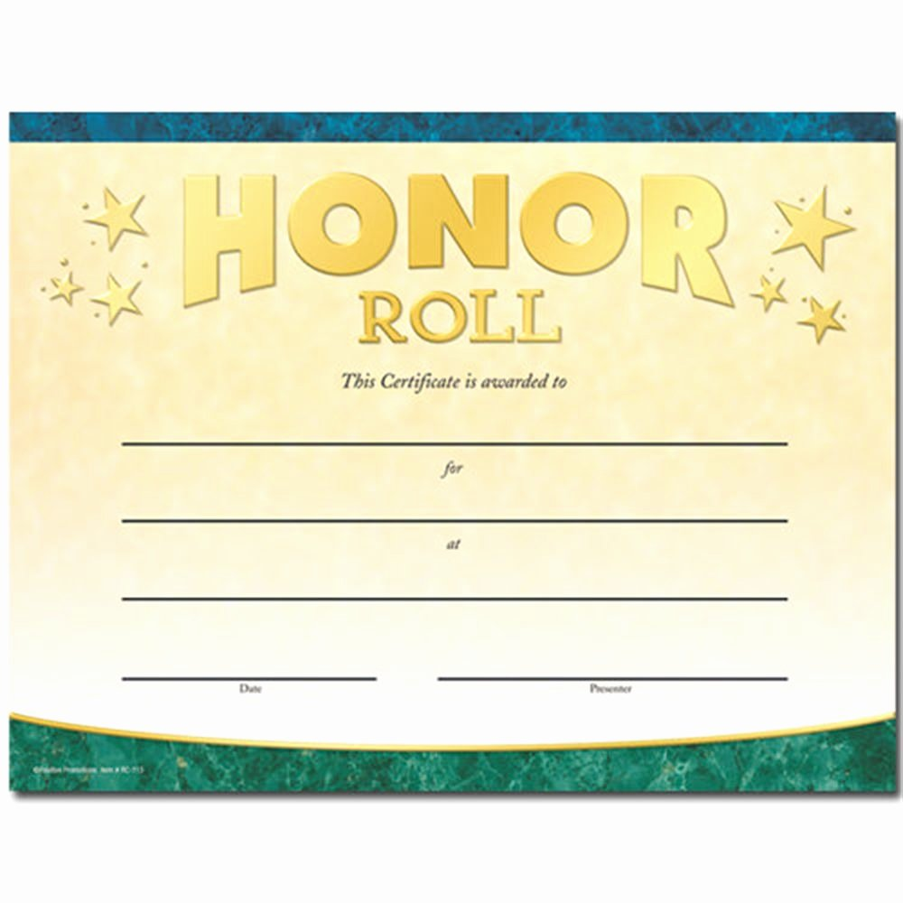 A Honor Roll Certificate Luxury Honor Roll Gold Foil Stamped Certificates