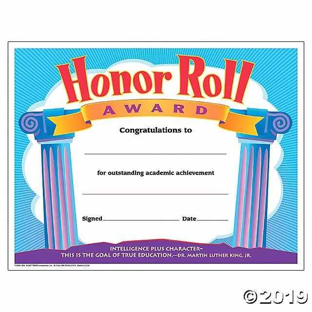 A Honor Roll Certificate Unique Honor Roll Award Certificate