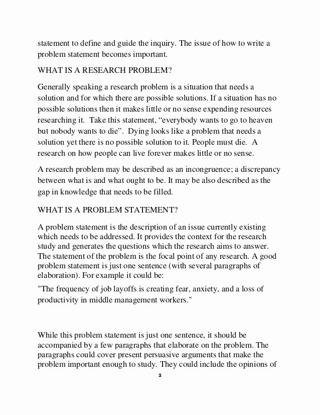 A Written Statement Awesome How to Write A Statement Problem