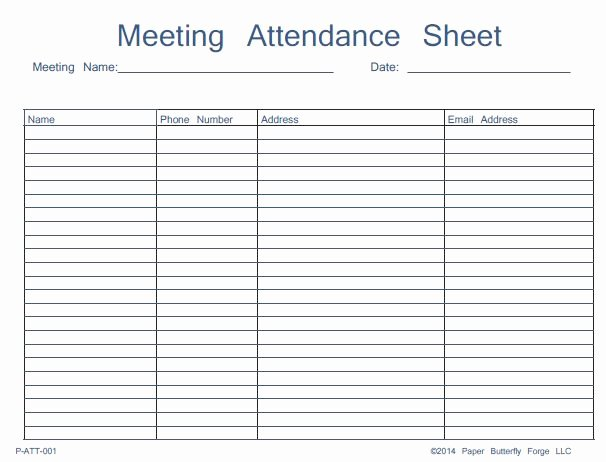 Aa Meeting Sign In Sheet Fresh Class Check In form – organized Bookkeeping