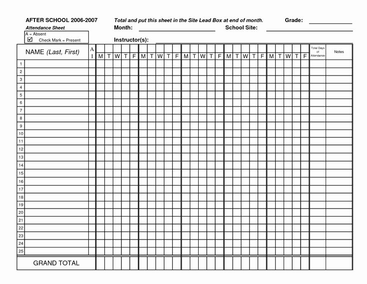 Aa Meeting Tracking Sheet Best Of Classroom attendance Sheets