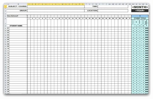 Aa Meeting Tracking Sheet Elegant 46 Best attendance Sheet Template Examples for Classroom