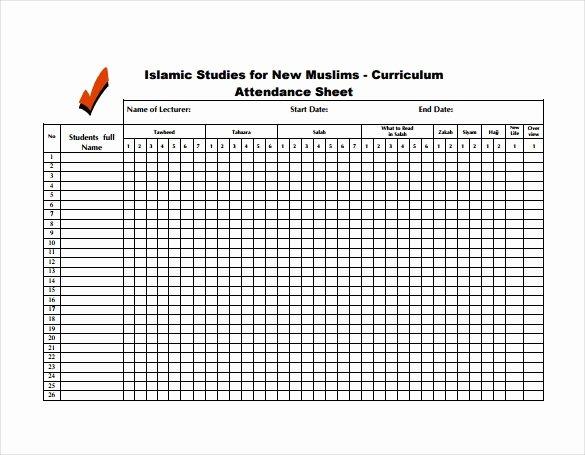 Aa Meeting Tracking Sheet New attendance Sheet Template