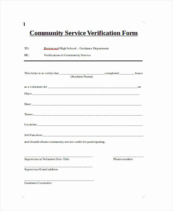 Aa Na attendance Verification Sheet Fresh Free 32 Free Verification forms