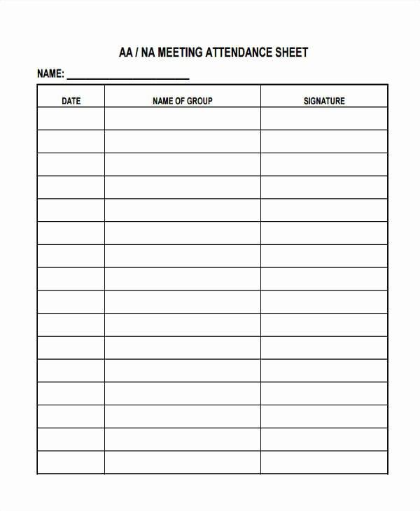 Aa Na attendance Verification Sheet Unique 14 attendance Sheet Templates Free Sample Example