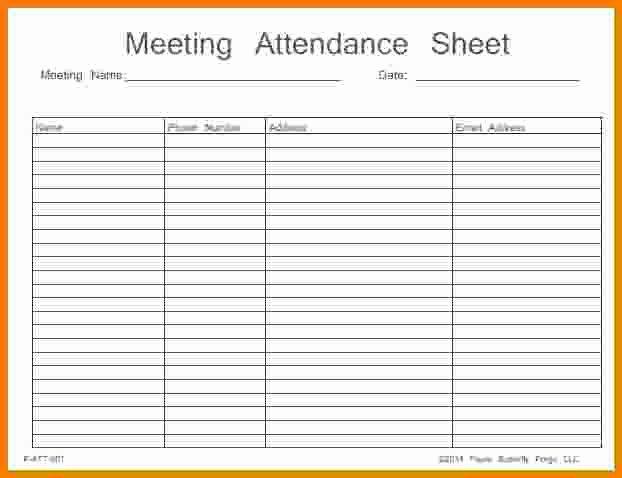 Aa Na Sign In Sheet Fresh Meeting attendance Sheet Template